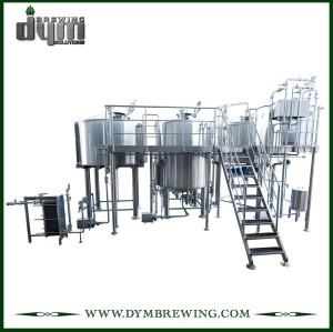 Equipo de elaboración de cerveza de 2 recipientes de calentamiento directo de fuego de acero inoxidable para cervecería