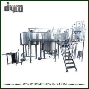 Équipement industriel adapté aux besoins du client de brassage de bière de métier de 3 navires de chauffage à vapeur pour la brasserie