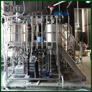 Équipement de brassage de bière artisanale du chauffage électrique industriel adapté aux besoins du client 2 navires pour la brasserie