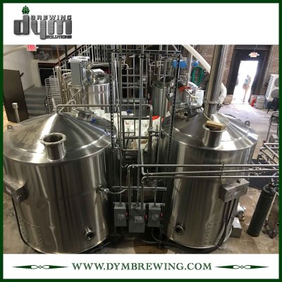 Equipo de elaboración de cerveza artesanal de 4 recipientes de calentamiento de vapor industrial personalizado para sala de cocción