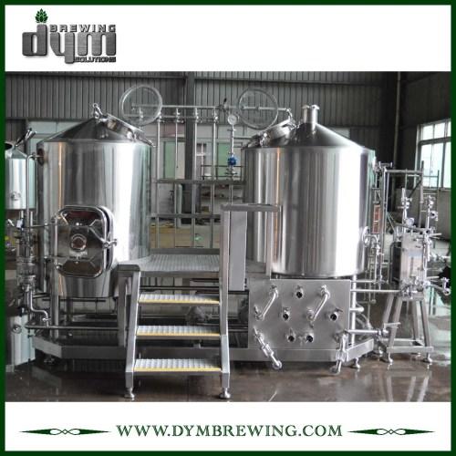 Venta caliente de acero inoxidable de grado alimenticio 5BBL Nano Beer Brewing Equipment para Pub
