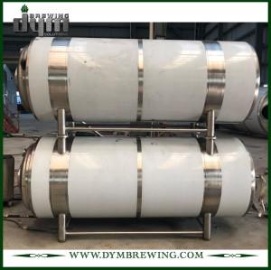 Fermentador horizontal industrial personalizado de 40bbl (EV 40BBL, TV 52BBL) para hacer cerveza artesanal