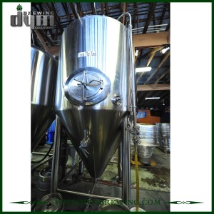 Advanced Production Technology 40bbl Kombucha Fermenter (EV 40BBL, TV 52BBL) with Glycol Jacket for Hotel Bar
