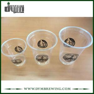 Пластиковый стаканчик с логотипом для пивоварни, ресторана, бара