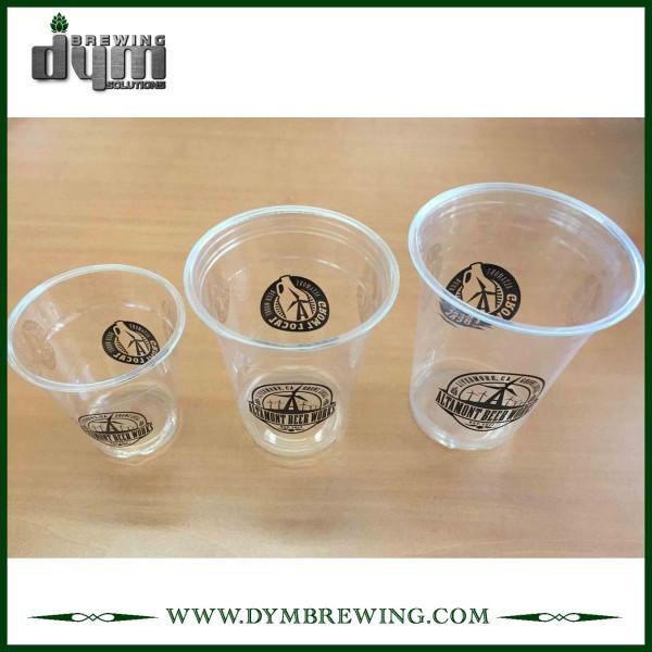 Vaso de plástico con logotipo para cervecería, restaurante, bar