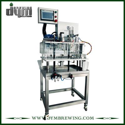 Máquina enlatadora semiautomática de 8 ~ 10cpm que ahorra espacio de DYM Brewing para latas de 12 oz 16 oz
