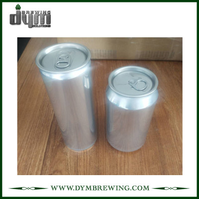 Lata de aluminio con cuello giratorio de 2 piezas y final de 355 ml 500 ml / 12 oz 16 oz de DYM Brewing