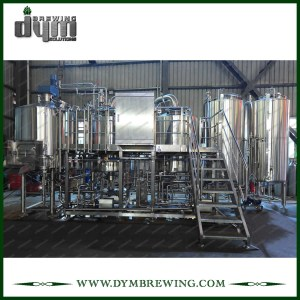 Customized Commercial 1000L 3-vessels Steam Heating Brewhouse