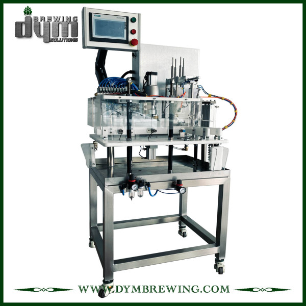 8~10cpm, space-saving, semi-auto canning machine from DYM Brewing for 12oz 16oz cans