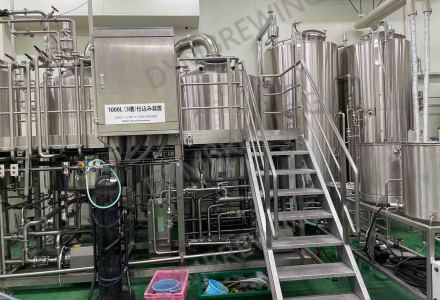 Good news from customer in Japan after installing our 10hl 3-vessel steam heating brewhouse.
