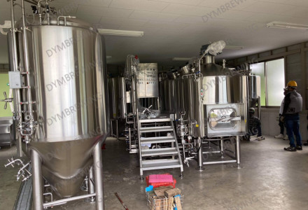 Our another set of 10hl beer brewing system (2 vessels steam heating brewing beer equipment ) has been shipped to our customer's brewery!