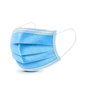 Factory Wholesale Non Woven Protective 3 Ply Dust Face Mask Disposable Earloop