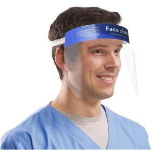 Safety Face Shield Adjustable Elastic strip, Transparent Full Face Protective Visor with Eye & Head Protection, Anti-Splash Facial Cover for Women Men