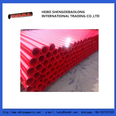 concrete pump straight pipe, seamless steel concrete pump pipe