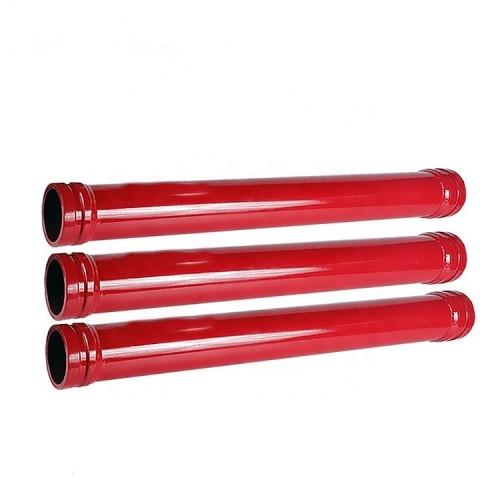 concrete pump straight pipe, seamless steel concrete pump pipe