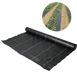 Greenhouse Black PP Woven Weed Mat / Weed Control Fabric Mat
