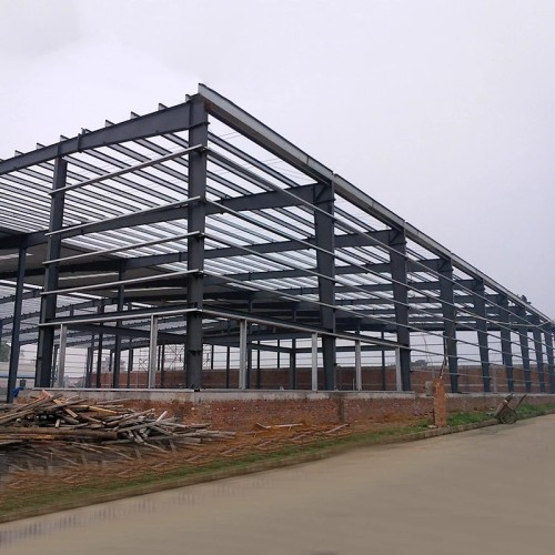 Low Cost Custom Design Industrial Prefab Heavy Galvanized Portal Frame Steel Structure