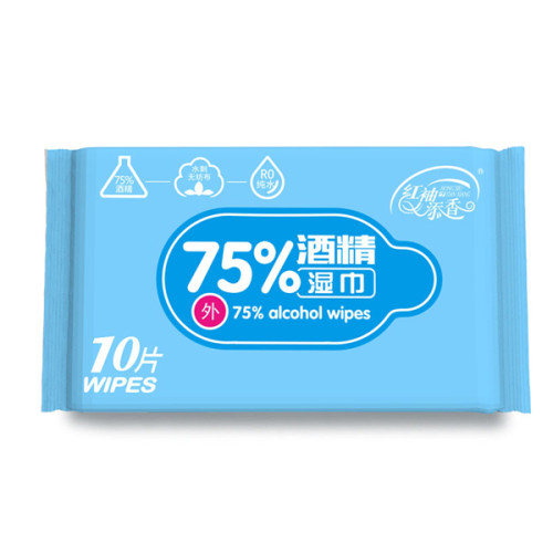 10PCS Antiseptic Disinfectant Wipes Medical 75% Alcohol Cleaning Wipes