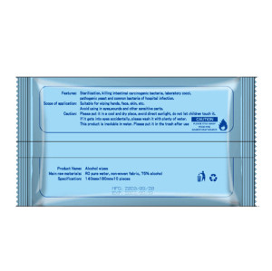 Hot Sale Biodegradable Antibacterial Alcohol Disinfectant Wipes