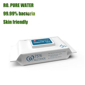 Disinfectant with CE, FDA approvals household bacteriostatic cleaning alcohol wipes for daily life