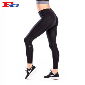 High Waist Black Nylon Elastane Yoga Pants Manufacturer