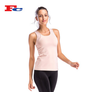 Dry Fit Polyester Spandex Women Plain Tank Top Wholesale