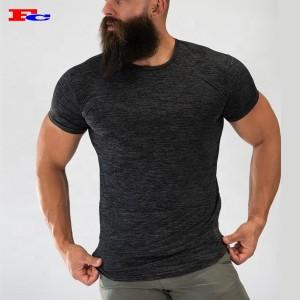 Custom Printing Embroidery Logo Crew Hem Athletic Mens Cheap Gym T Shirts