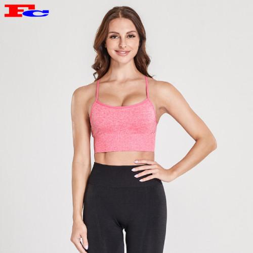 Sport-BH Großhandel Pantone Pink verstellbarer Schultergurt