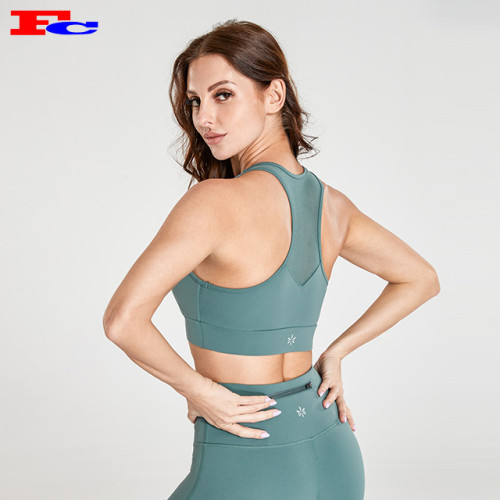 Vêtements d'entraînement de marque privée à la mode pour femmes gris vert