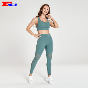 Gray Green Women's Fashionable Private Label Workout Clothes