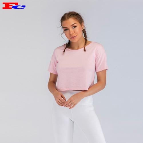 Light Baby Pink Women's Short T- Shirt  Bulk Suppliers