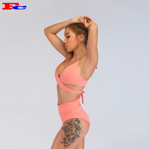Vente en gros de vêtements d'entraînement sexy rose chaud