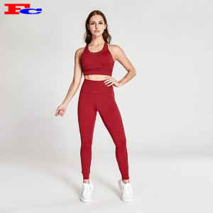 Positive Red Yoga Clothes Wholesale