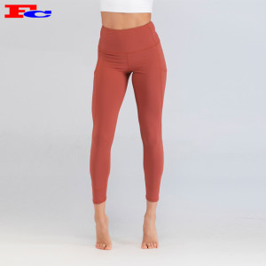 Living Coral Orange Quality Leggings Wholesale