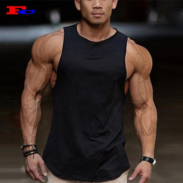Wholesale tank top:Men's  Athletic  Scoop Hem Muscle Tank Top Manufacturer
