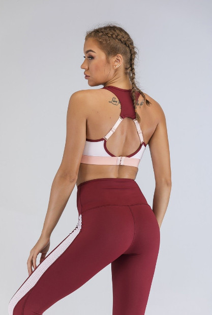 Wholesale Gym Wear : Stylish White,Pink And Red  Mix And Match Gym Clothing