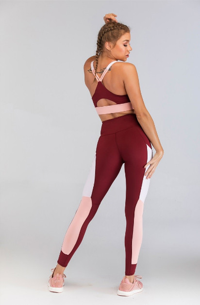Fengcai Wholesale Gym Clothing With Color Block