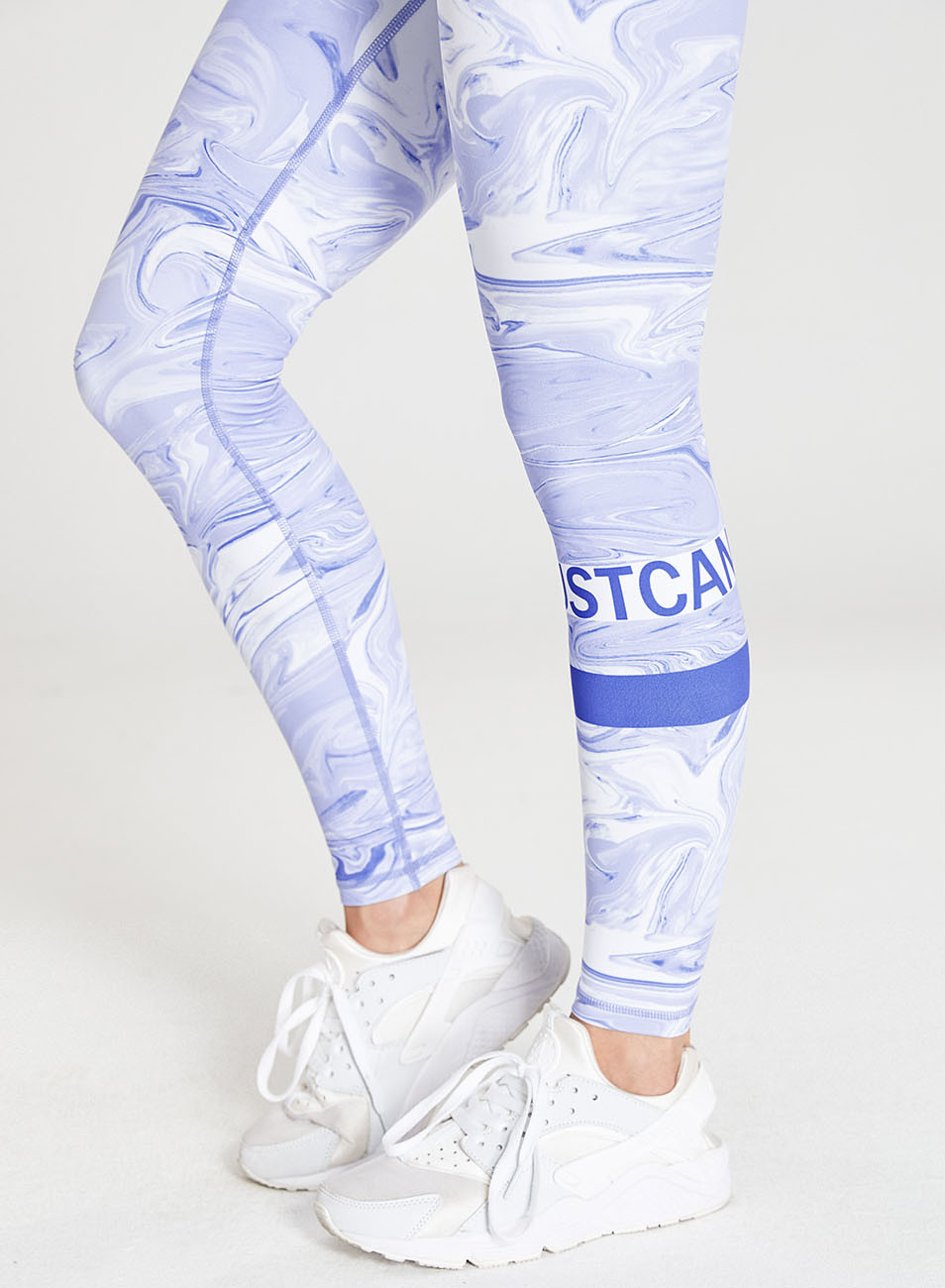 Blue And White Printed Fitness Leggings Wholesale