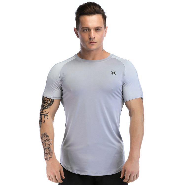 Men's Bodybuilding Round Neck Athletic T Shirts Wholesale