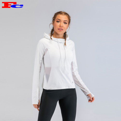Customized Tracksuits Side Mesh Patchwork Hoodie With Thumb Hole
