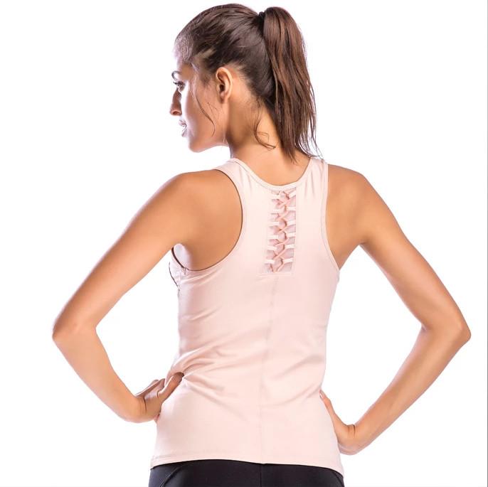 Dry Fit Polyester Spandex Women Plain Tank Top Wholesale