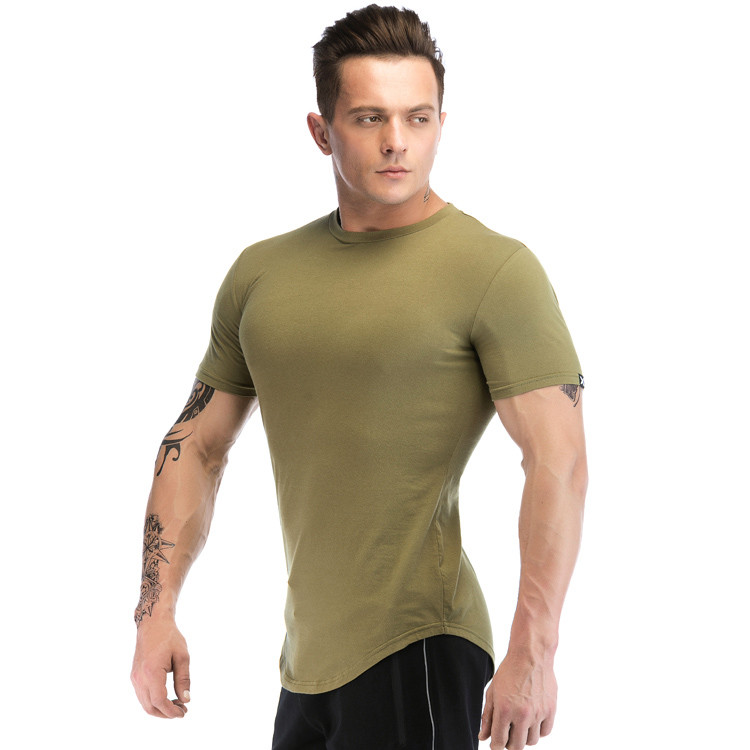 Polyester Spandex Short Sleeve Dry Fit  Mens T Shirts Wholesale