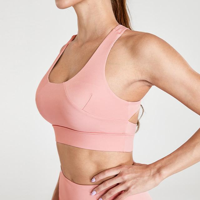 Vente en gros de vêtements de yoga funky rose clair