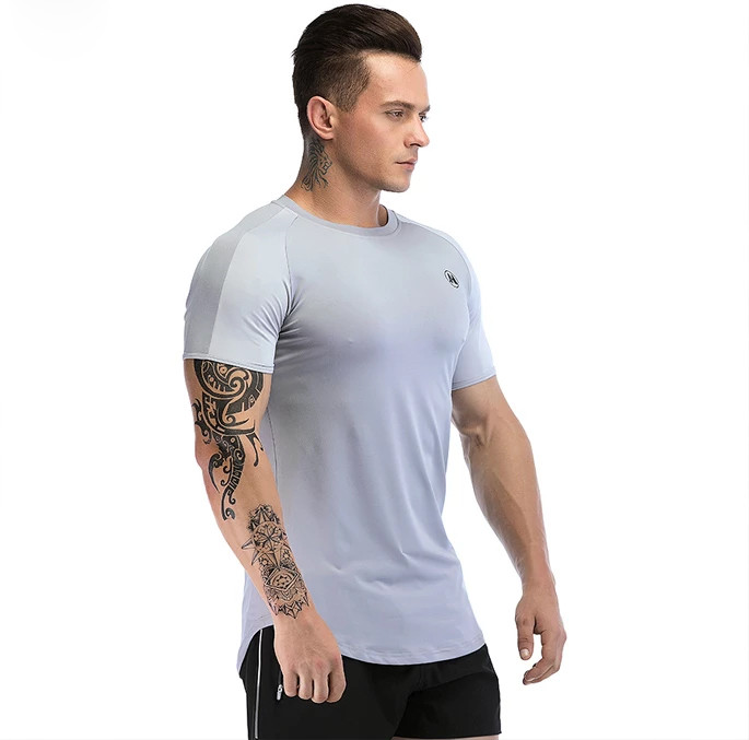 Breathable Quick Dry Compression Bodybuilding Private Label T Shirt Manufacturer