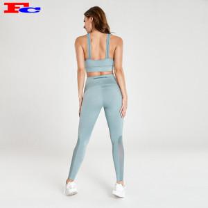 Fabricant de vêtements de remise en forme de mode gris bleu