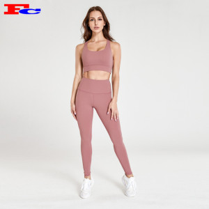 Flesh Pink Gym Clothes Wholesale
