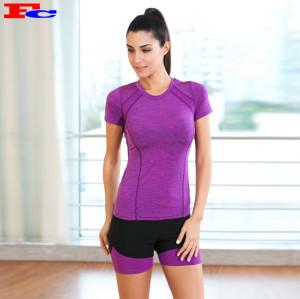 T-shirt violet et short noir Fabricant de vêtements de sport