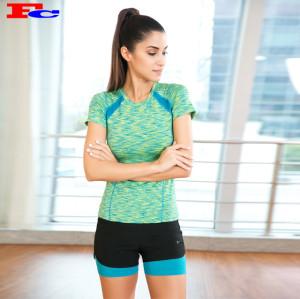 T-shirts bleus et verts et shorts noirs Fabricants de vêtements de sport