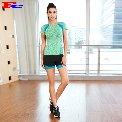 Blue And Green T-Shirts And Black Shorts Activewear Clothing Manufacturers