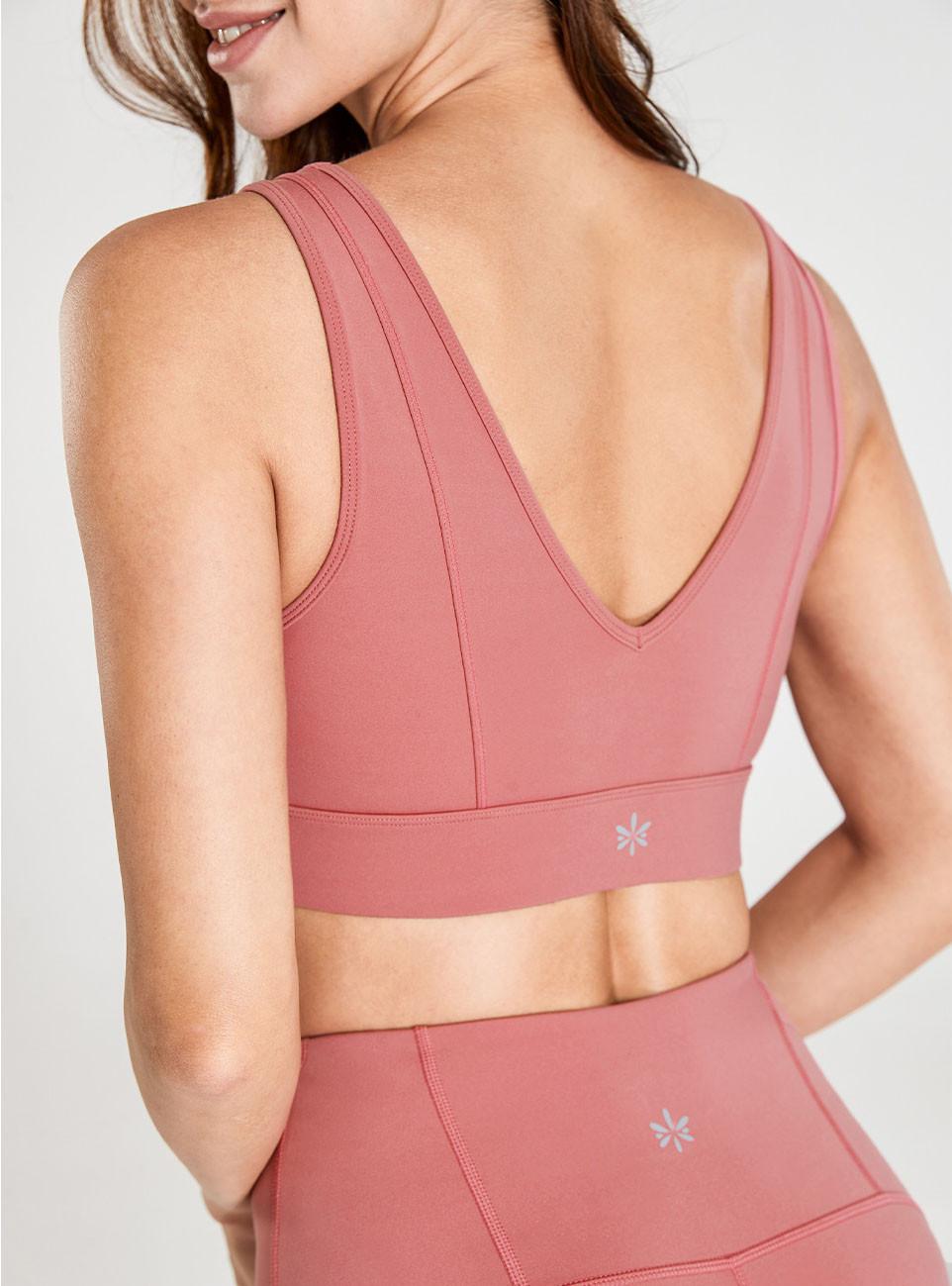 Peach Pink Back Deep V BH Verteiler